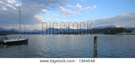 Lake Des Quatres,Cantons, Lucerne, Switzerland, Panorama