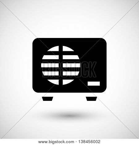 External air conditioning unit icon isolated on grey. Vector illustration