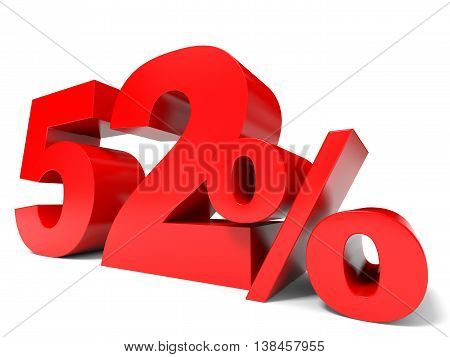 Red Fifty Two Percent Off. Discount 52%.
