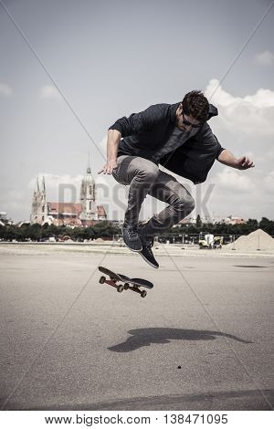 Ollie on the Theresienwiese in Munich germany