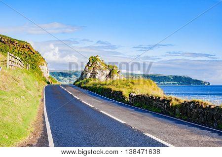 The eastern coast of Northern Ireland and Antrim Coastal road