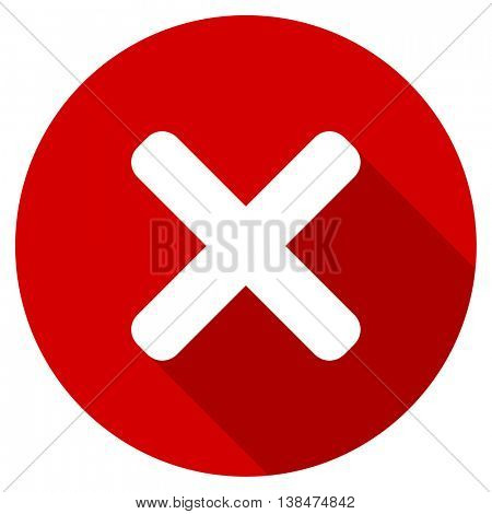 cancel vector icon, red modern flat design web element