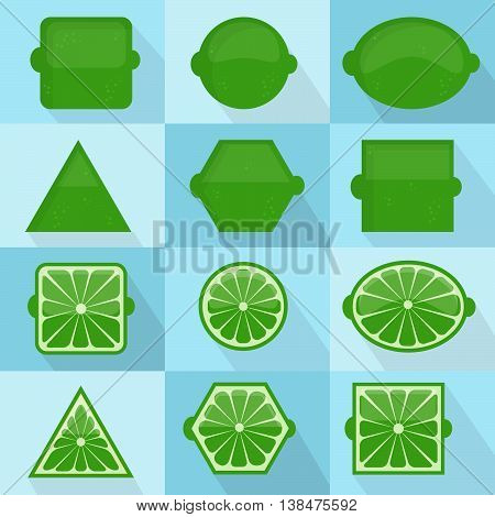 Lime Geometric Shapes
