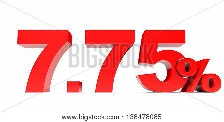 Red Seven Point Seven Five Percent Off. Discount 7.75 Percent.