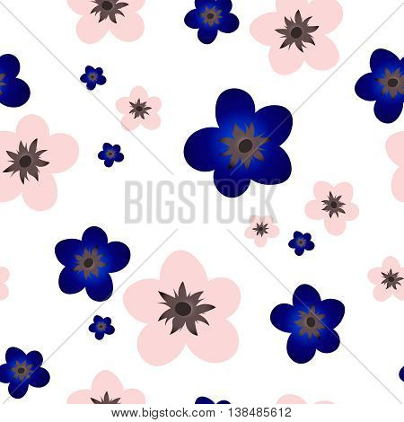 Vector mage,  flower pattern. Seamless floral background
