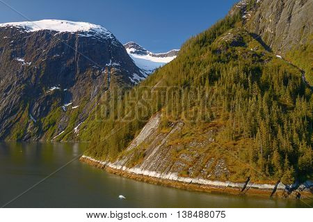 Landscape At Tracy Arm Fjords In Alaska United States