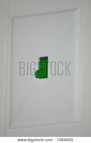 Dark Green Power Switch