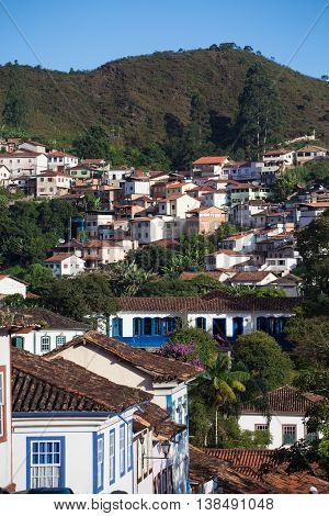 Brazilian Houses On A Hill