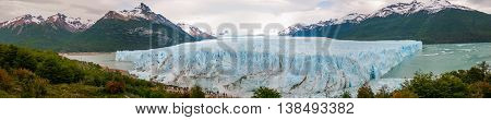 Panoramic View Of The Glacier Perito Moreno, Calafate, Argentina