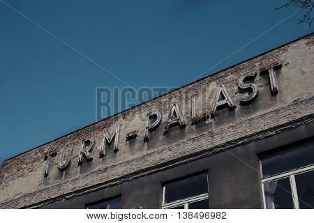 Old industrial building in Moabit Berlin germany
