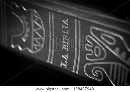 Holy Bible detail book religion christianity scripture