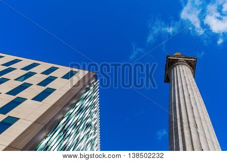 The Monument to the Great Fire of London a doric column in London UK