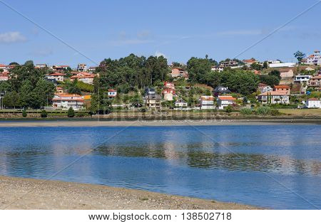 the bay of Baiona, Galicia, Spain