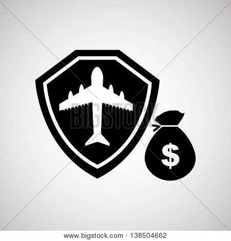 bag of money cash icon, vector illustration