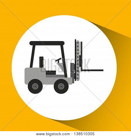 forklift technolgy machine, industry icon, vector illustration