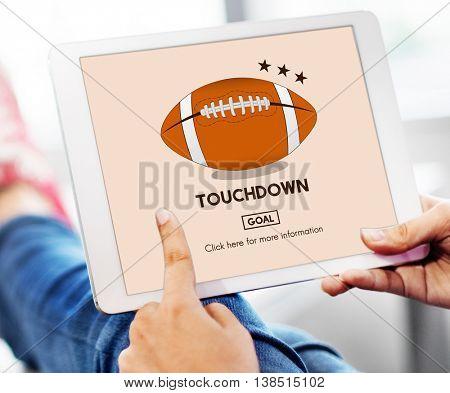 Football Touchdown Sport Graphics Concept