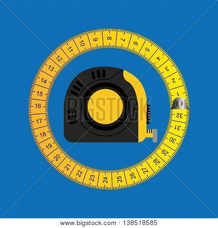 metric tape measure, healthy life style, vector illustration