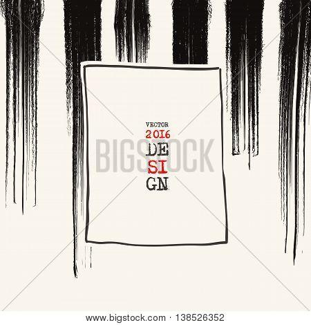 Grunge stripe background. Abstract grunge decoration. Art ink grunge. Brush stroke grunge element. Grunge vector illustration.