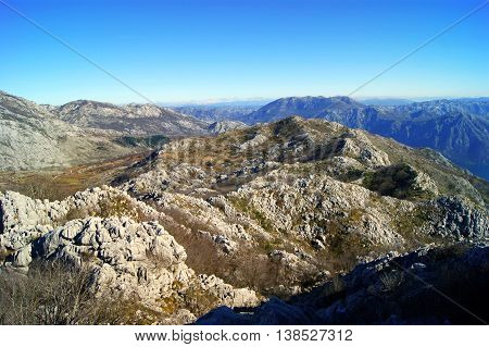 Desert landscape in the highlands (Massif Orjen, Montenegro)