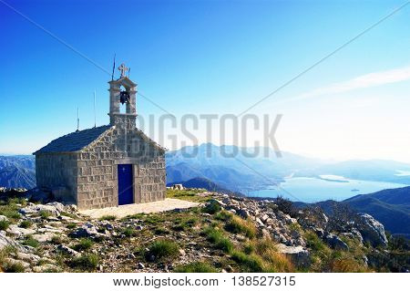 Small church in the mountains of Montenegro