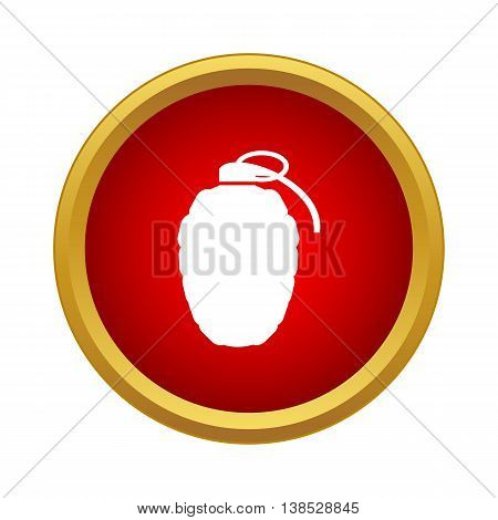 Grenade icon in simple style on a white background