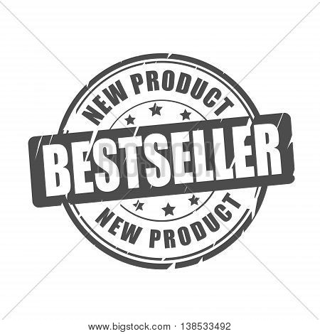 Bestseller new product vector illustration stamp on white background
