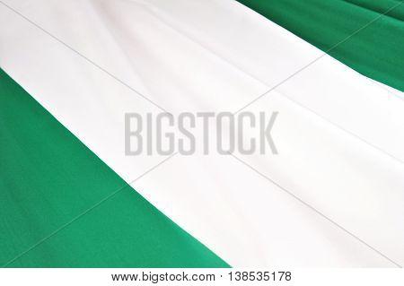 Flag of Nigeria. Close-up of the national flag of Nigeria.