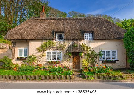 Architecture detail of traditional english cottage houses