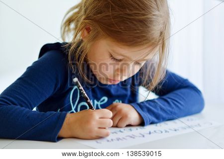 Girl Is Writting