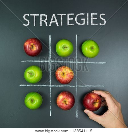 Strategies Concept With Tic Tac Toe Game