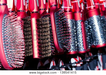 New Red Hairbrushes