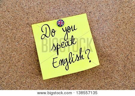 Written Text Do You Speak English ?