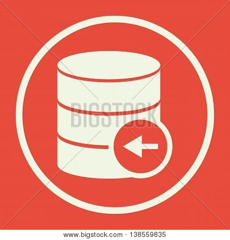 Database Left Icon In Vector Format. Premium Quality Database Left Symbol. Web Graphic Database Left