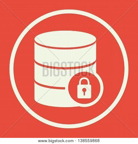 Database Lock Icon In Vector Format. Premium Quality Database Lock Symbol. Web Graphic Database Lock