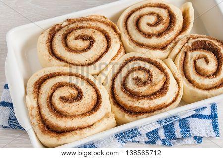 Cinnabon Preform Suitable Before Sending In The Oven