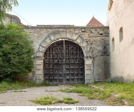 Entrance tower of Svirz Castle Entrance tower in Svirzh, Ukraine