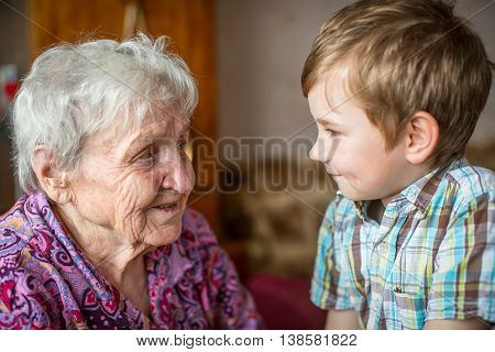 Grandma and little grandson.
