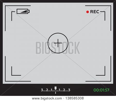 Camera viewfinder vector illustration in flat style