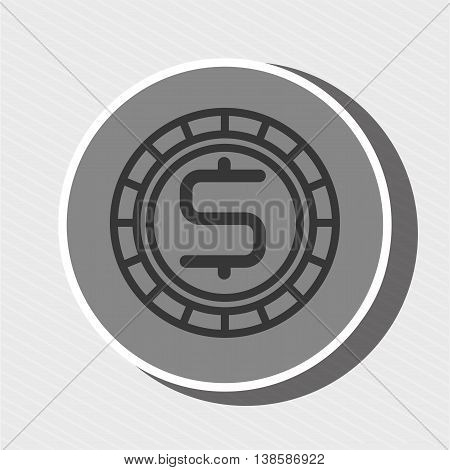 symbol of currency isolated icon design, vector illustration  graphic
