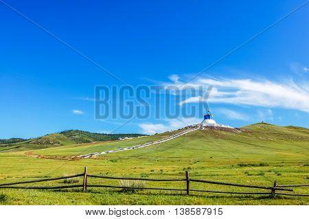 Lush hills near Amarbayasgalant Monastery, Tsagaan Tolgoi, central Mongolia