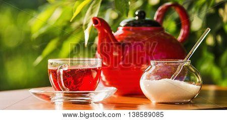 Teatime on nature