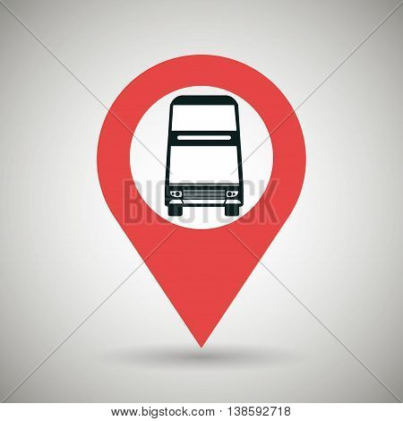 signal of two floor bus isolated icon design, vector illustration  graphic