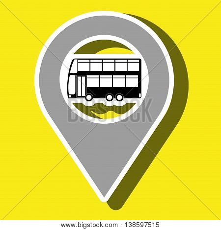 red  signal of bus side isolated icon design, vector illustration  graphic