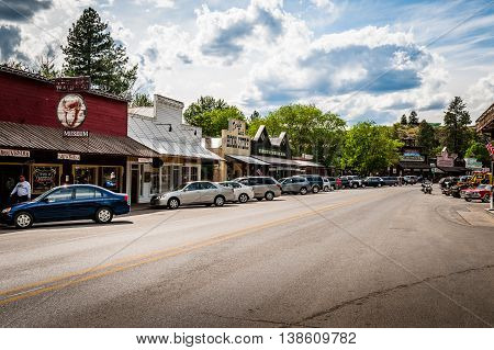 Winthrop Wa. USA -June 18 2009 : main street of Winthrop small western city and popular tourist attraction