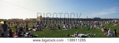 Berlin Germany - May 01 2012: People at