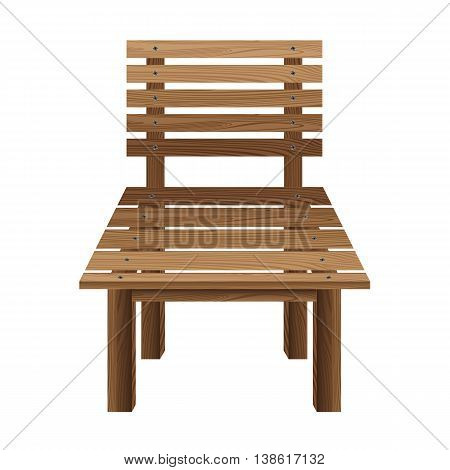 Wooden chairs on a white background. Wooden Furniture.