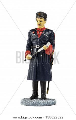 Kuban Cossack units officer in dress uniform, 1943-1945