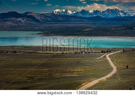 Blue Star Highway To Mono Lake California Overlook