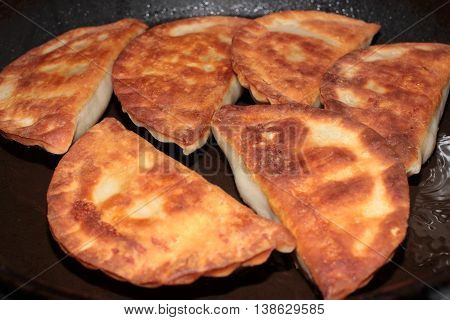 hot delicious pasties as a meat dish