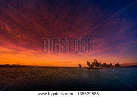 Mono Lake Sunset Sky America's Famous Landscapes